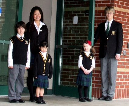 In Canada, school uniforms are not required in most public schools or separate schools, except in exceptional circumstances such as school performances or international field trips. However, Catholic high schools in Ontario (Grade ) do require uniforms.