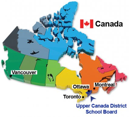 Cornwall Canada Map.The Upper Canada District School Board Cornwall Ontario Studycanada